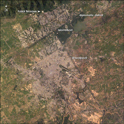 Islamabad and Rawalpindi, Pakistan - NASA