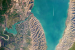Mingachevir Reservoir, Azerbaijan- June 7, 2010 (NASA)