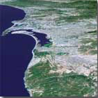 San Diego area from Shuttle Radar Topography data - JPL (January 22, 2002