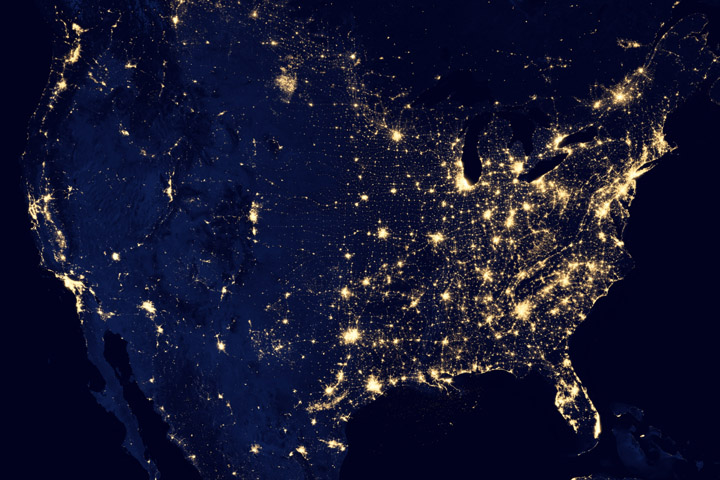 North America at Night - NASA