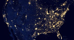 Continental United States at night  NASA/NOAA