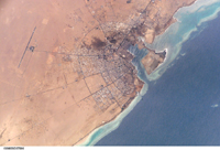 The Red Sea port town of Yanbu - NASA