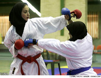 Iranian women, martial arts - ISNA