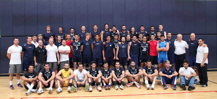 Iranian national volleyball team - USC (August 9, 2014)