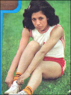 Track and field Star Zahra Hosseini, 1975