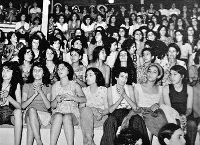 Women in Aryamehr Stadium