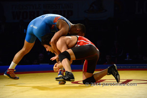 Iran vs USA Wrestling - By QH