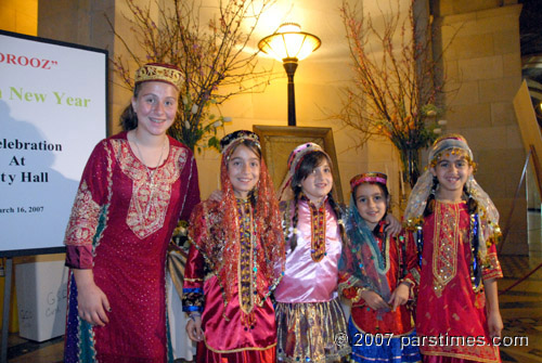 Iranian-American Children Celebrating Nowruz at LA City Hall