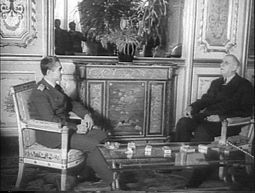 Shah of Iran & French President Charles De Gaulle - October 16, 1961